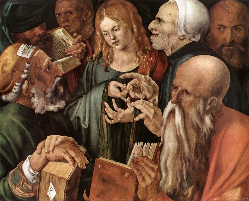 famous painting Cristo entre los doctores of Albrecht Durer
