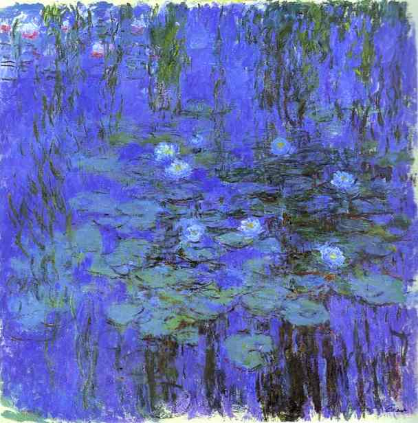 famous painting Agua Azul lirios  of Claude Monet