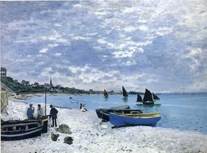 Claude Monet - la playa en Sainte-Adresse