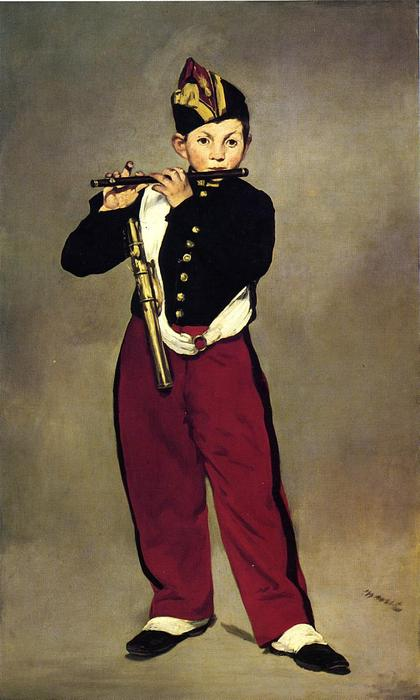 famous painting El pífano of Edouard Manet