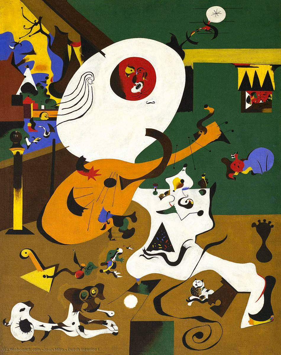 famous painting Interior holandés I of Joan Miro