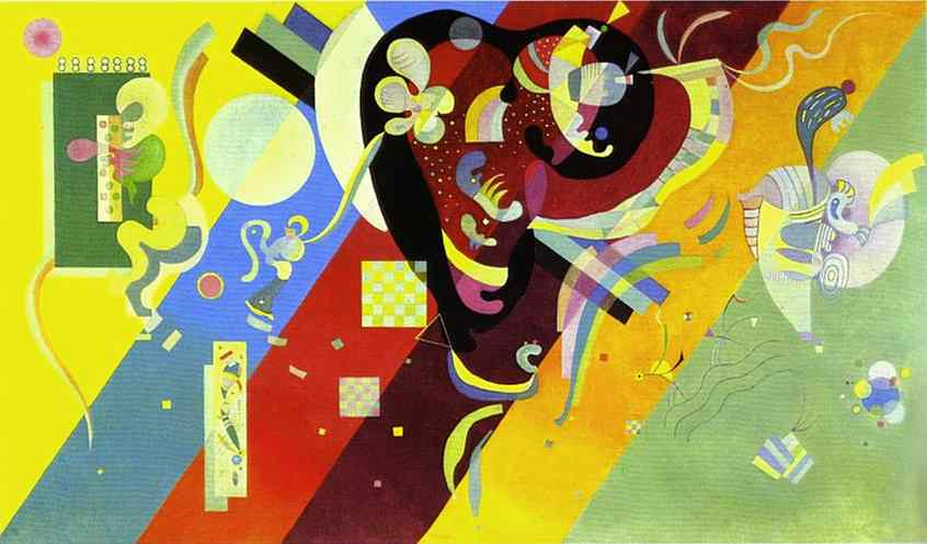 famous painting Composición LX of Wassily Kandinsky