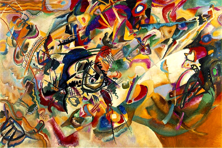 famous painting composición vii of Wassily Kandinsky