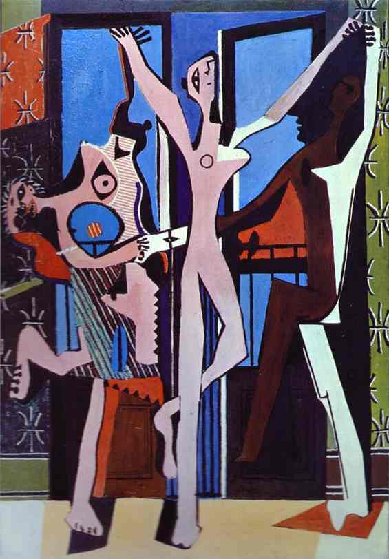 famous painting tres bailarines of Pablo Picasso