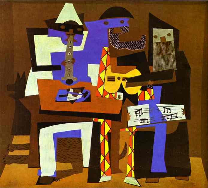 famous painting tres músicos of Pablo Picasso