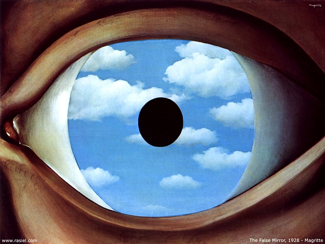 famous painting Falso espejo of Rene Magritte