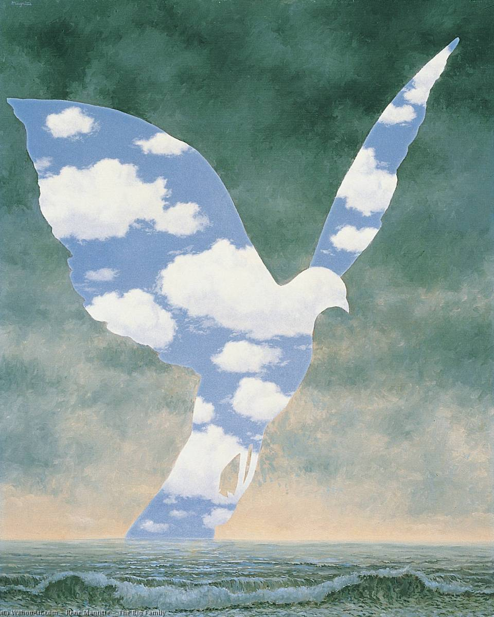 | el grande familia de Rene Magritte | Most-Famous-Paintings.com