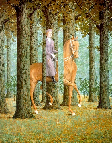 famous painting el cheque en blanco of Rene Magritte