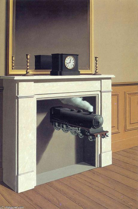 famous painting Tiempo paralizado of Rene Magritte
