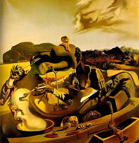 famous painting Canibalismo de otoño of Salvador Dali