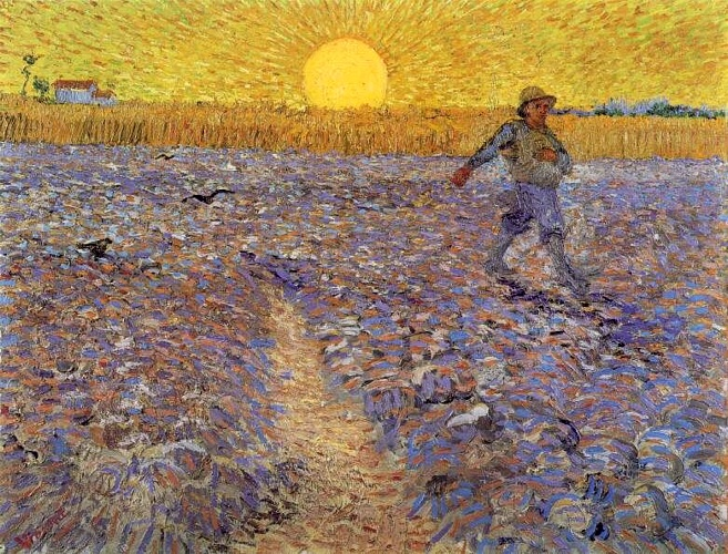 Pedir Reproducciones De Bellas Artes | `sower` con ajuste sol de Vincent Van Gogh | Most-Famous-Paintings.com