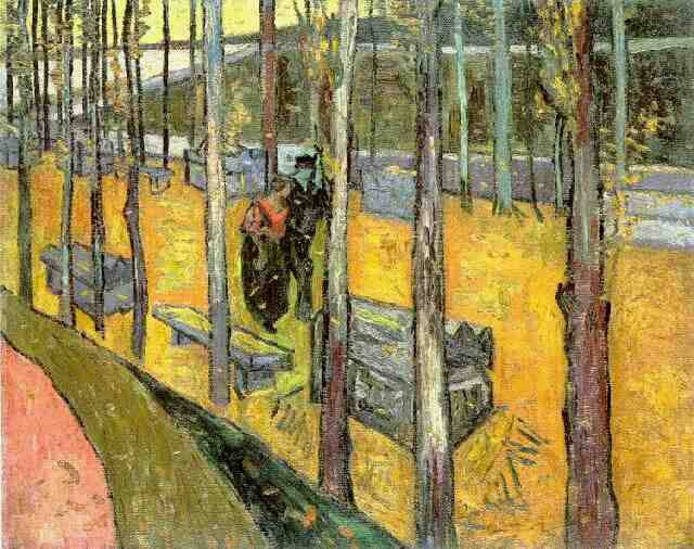 famous painting Les Alyscamps2 of Vincent Van Gogh