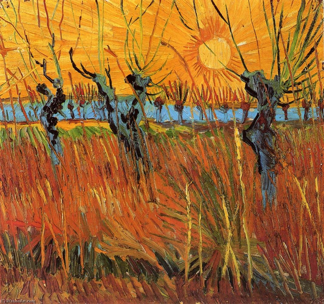 famous painting sauces al atardecer of Vincent Van Gogh