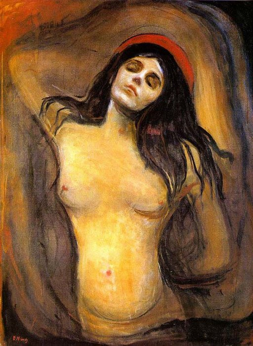 famous painting virgen of Edvard Munch