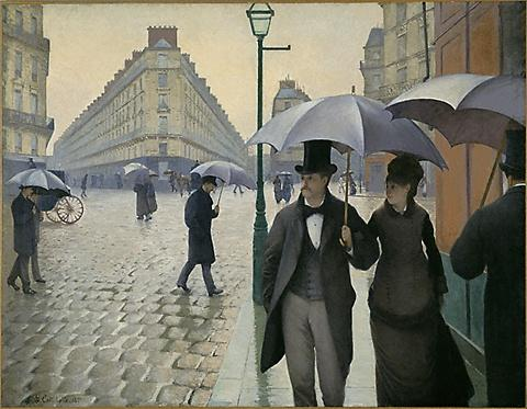 famous painting París calle lluvioso  Día  of Gustave Caillebotte