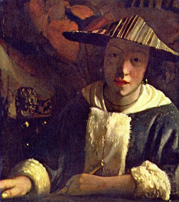 famous painting Chica con una flauta of Jan Vermeer
