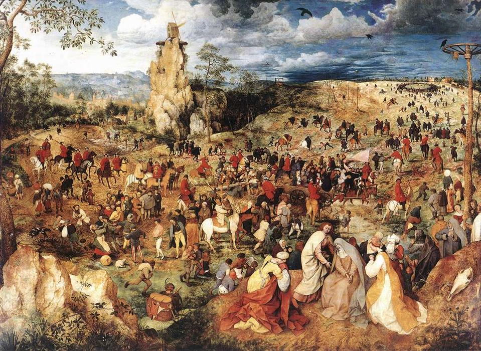 famous painting cristo cargando la cruz of Pieter Bruegel The Elder
