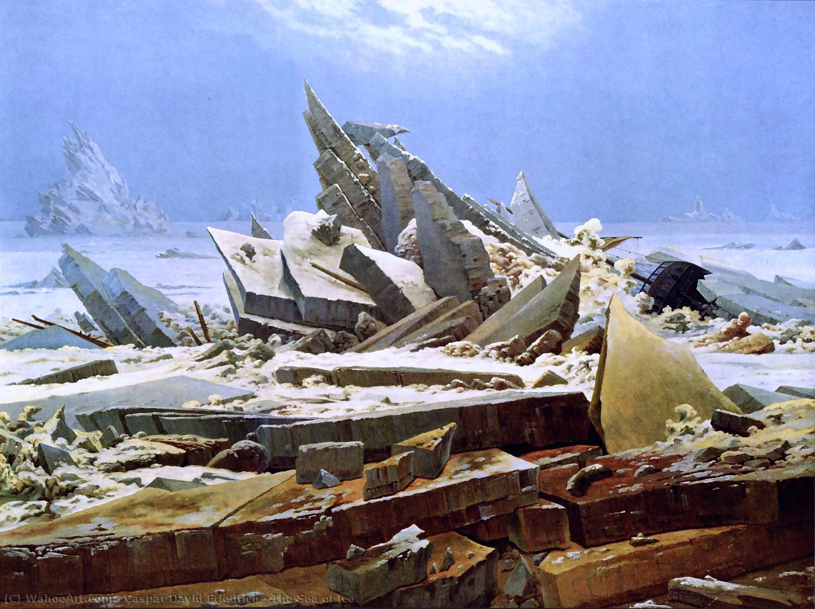 Pedir Arte De La Reproducción : El mar del hielo de Caspar David Friedrich | Most-Famous-Paintings.com