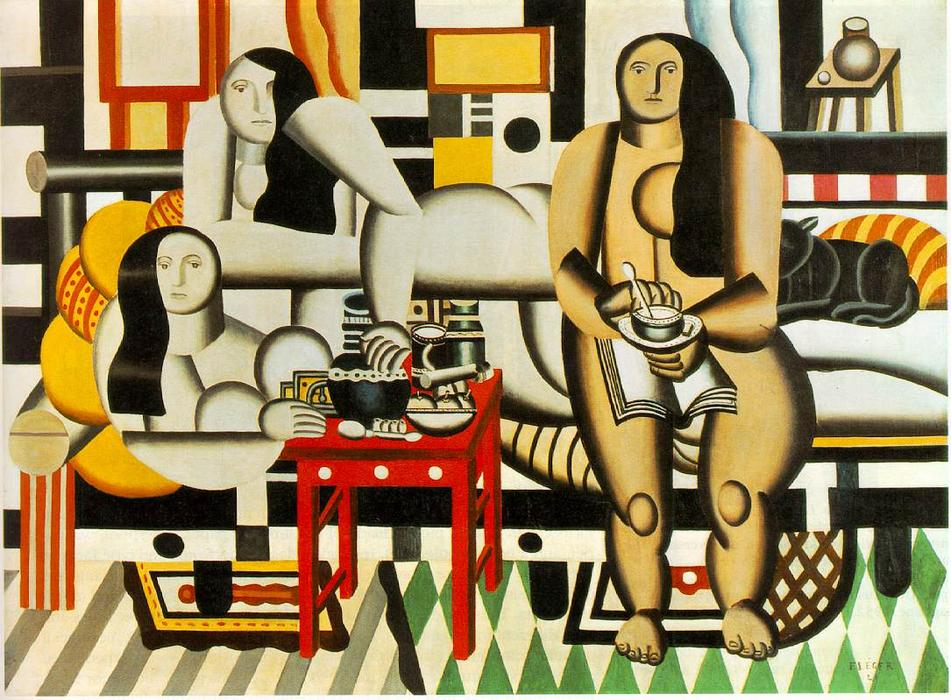 | tres mujeres de Fernand Leger | Most-Famous-Paintings.com