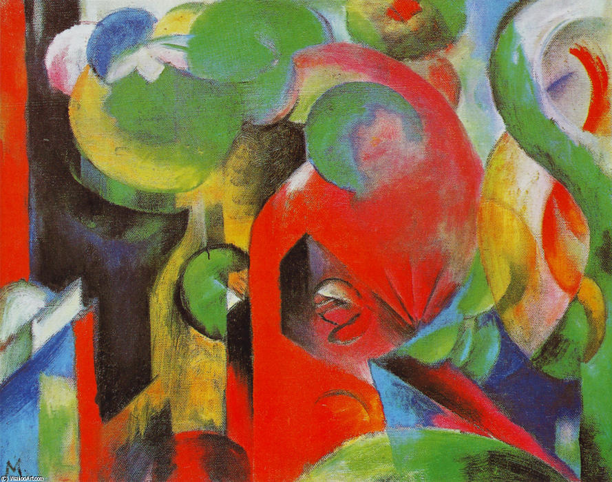 famous painting pequeño composición iii of Franz Marc
