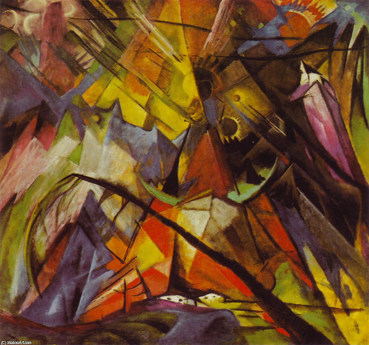 Pedir Reproducciones De Pinturas | Tirol de Franz Marc | Most-Famous-Paintings.com