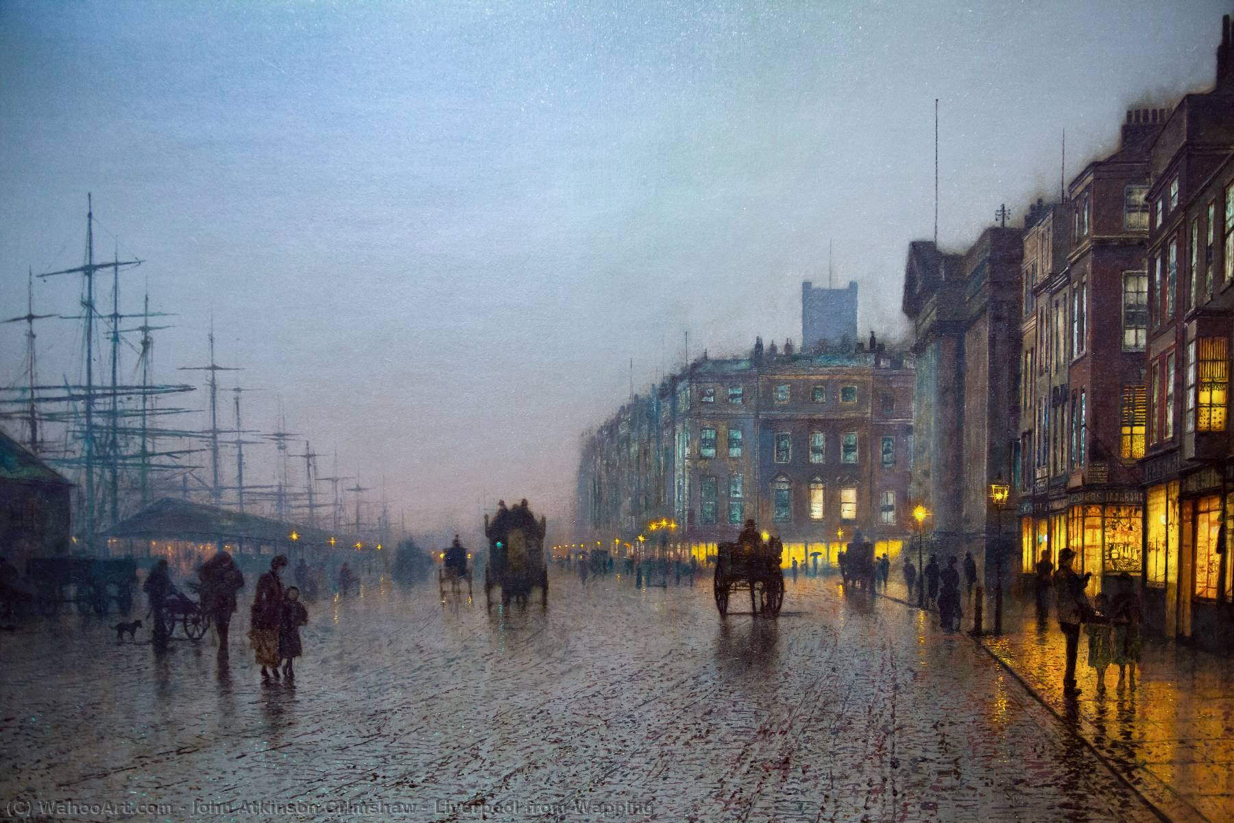 Pedir Reproducciones De Bellas Artes | liverpool desde wapping de John Atkinson Grimshaw | Most-Famous-Paintings.com