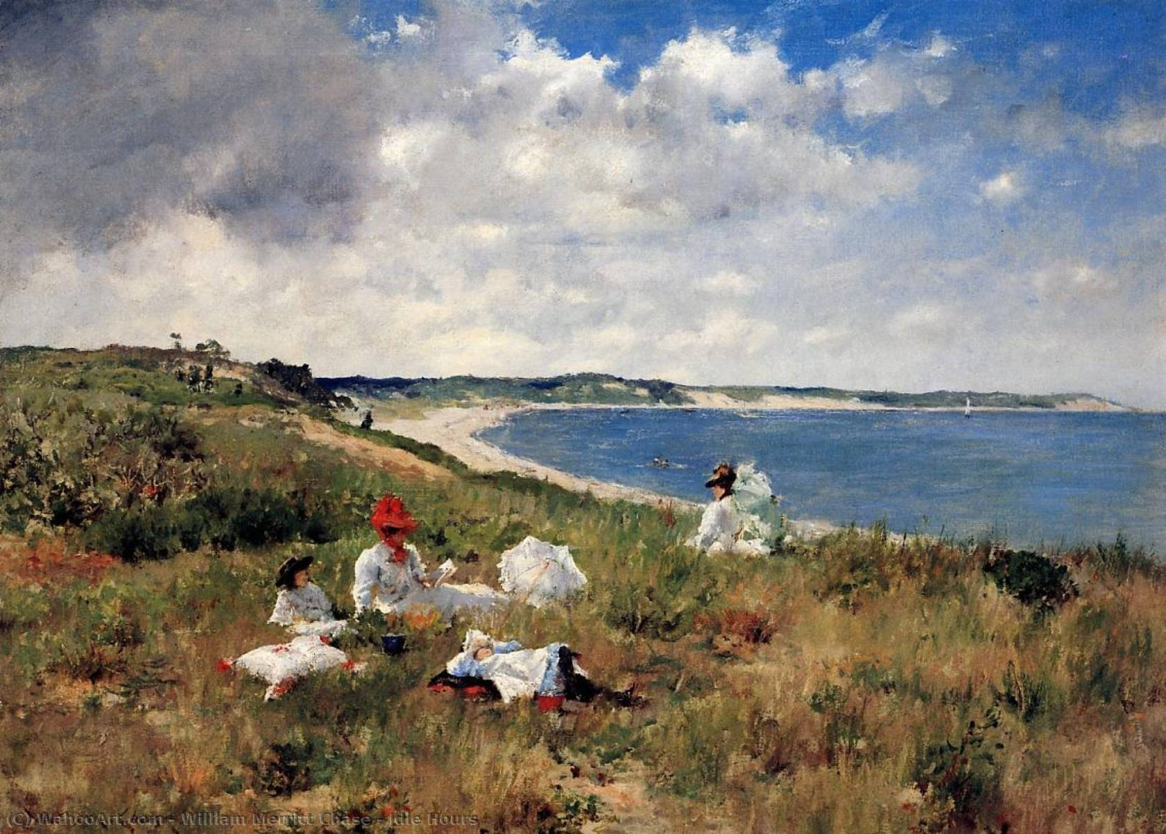 Comprar Reproducciones De Arte Del Museo | Horas ociosas de William Merritt Chase | Most-Famous-Paintings.com