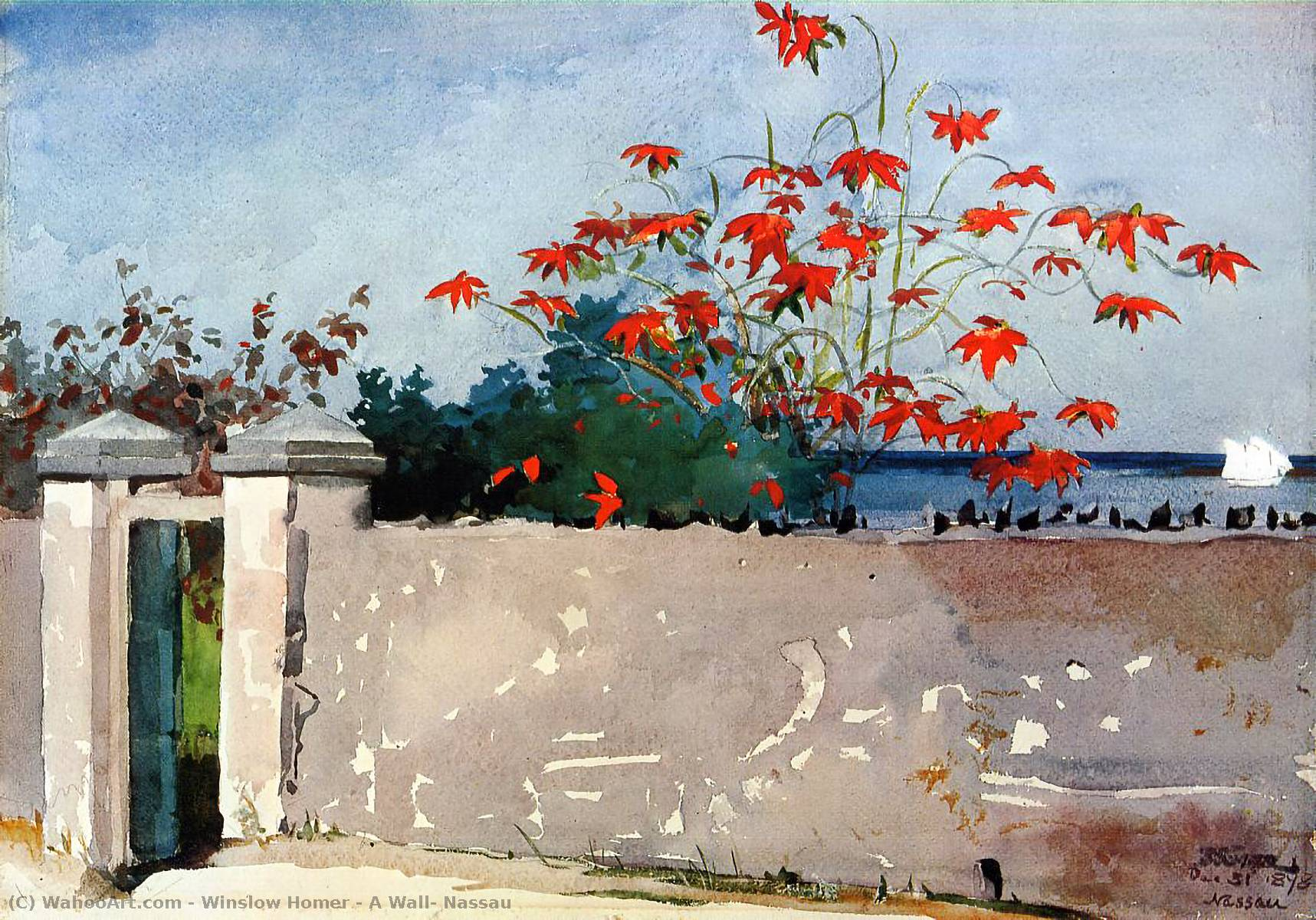 famous painting una pared , Nassau of Winslow Homer