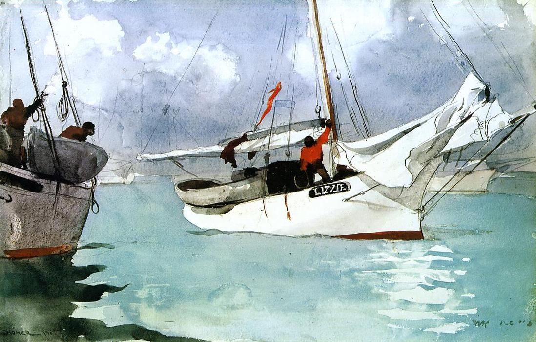 famous painting botes de pesca , key west of Winslow Homer