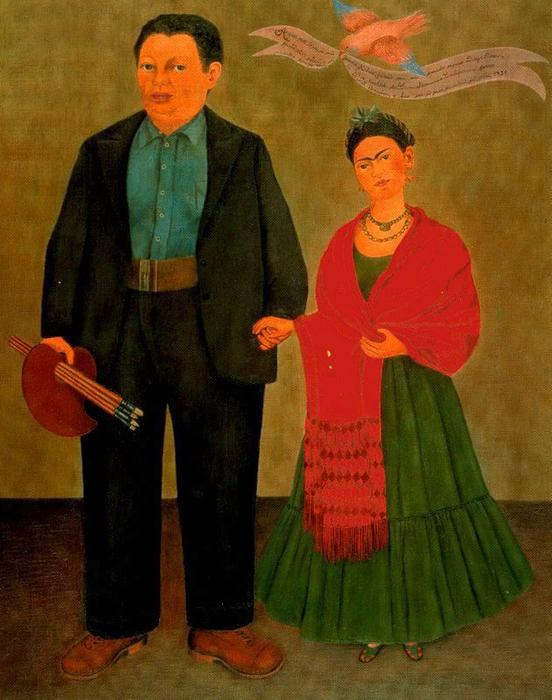 famous painting frida y diego rivera of Frida Kahlo