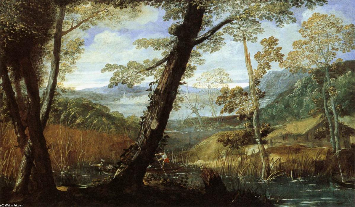 famous painting paisaje del río of Annibale Carracci