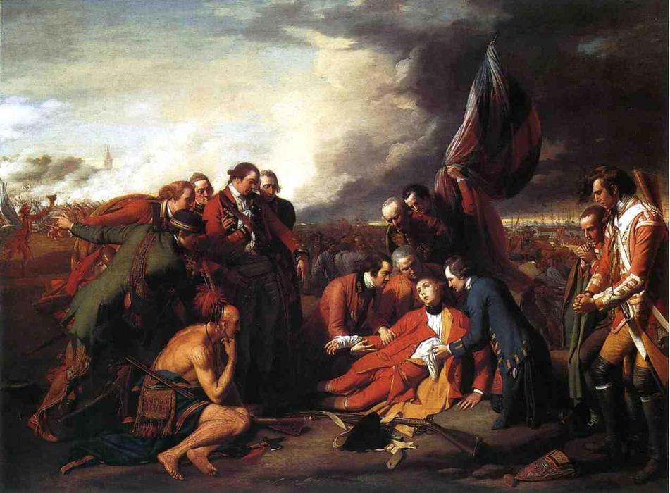 Pedir Reproducciones De Pinturas | la muerte del general wolfe de Benjamin West | Most-Famous-Paintings.com