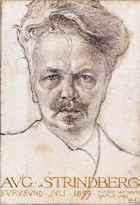 famous painting August Strindberg of Carl Larsson