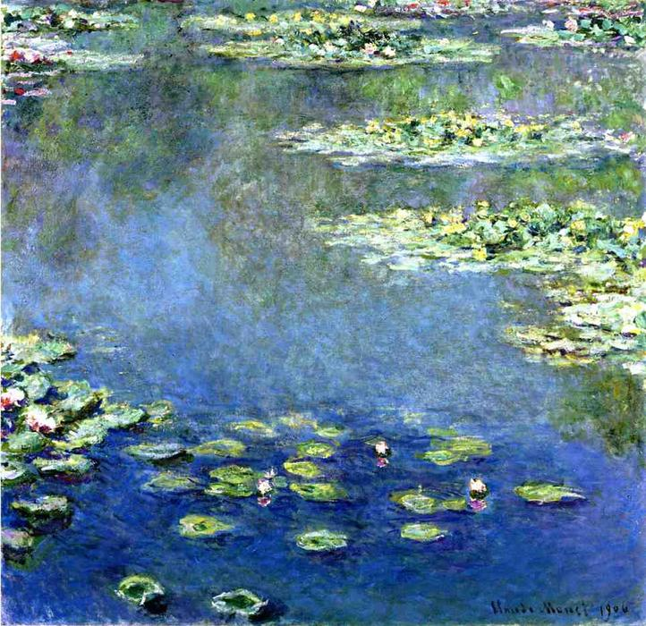 famous painting lirios de agua of Claude Monet