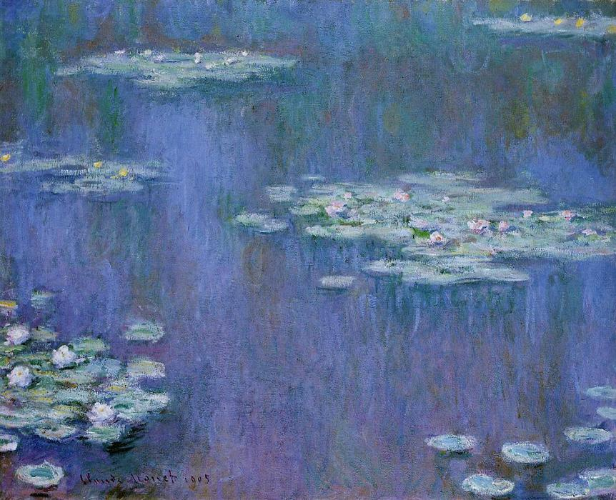 famous painting Water-Lilies 13 of Claude Monet