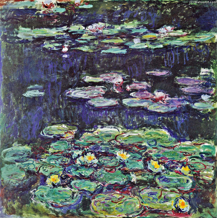 famous painting lirios de agua 43 of Claude Monet