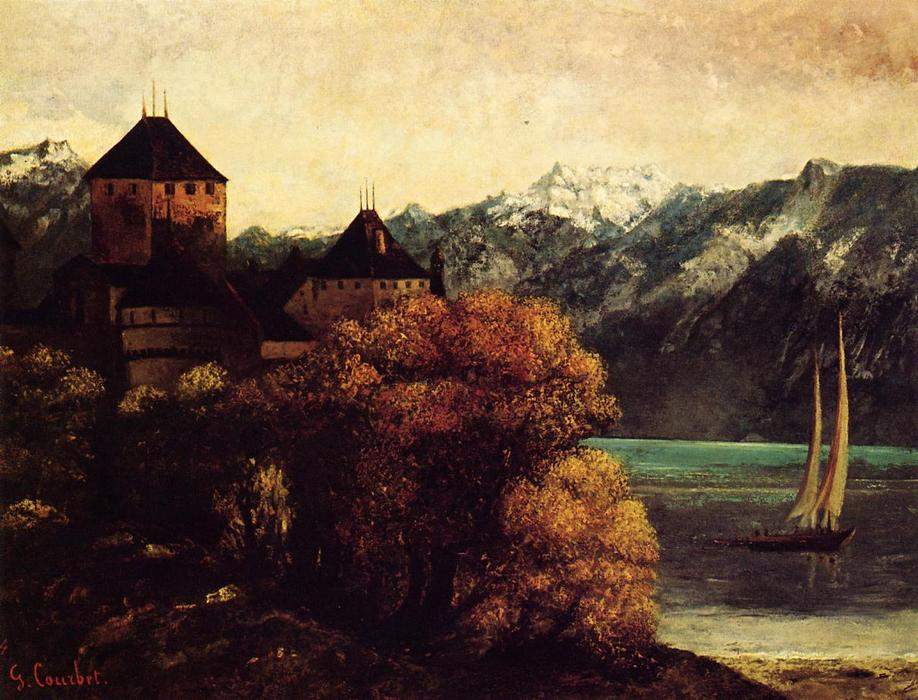 famous painting El Castillo de Chillon of Gustave Courbet