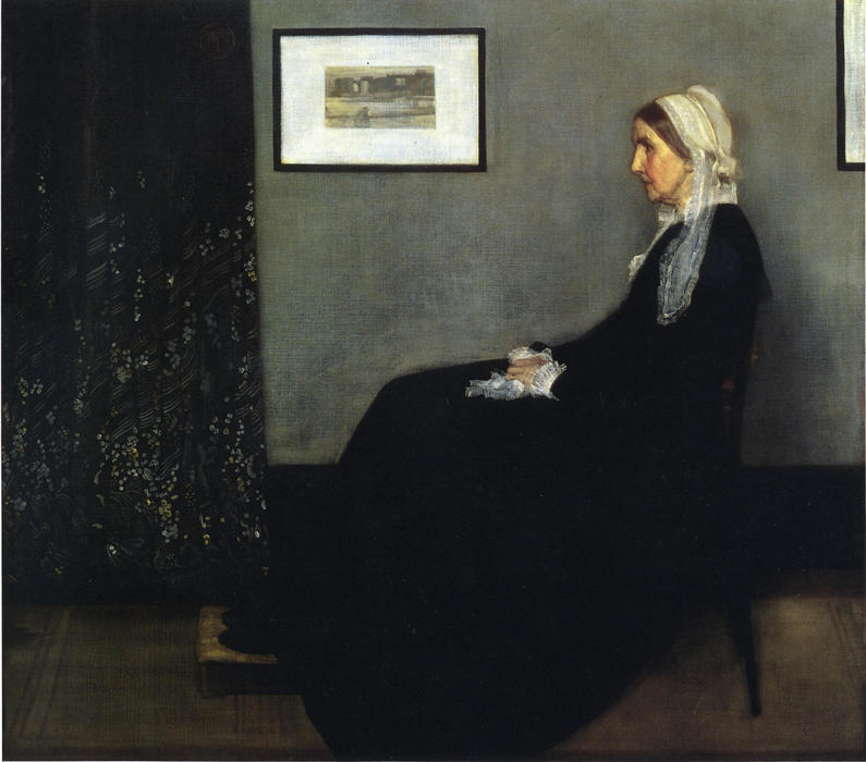 Pedir Copia De La Pintura : arreglo en gris y negro . Retrato de la Painter's Madre de James Abbott Mcneill Whistler | Most-Famous-Paintings.com