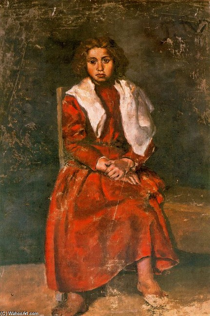 famous painting Mujer descalza of Pablo Picasso