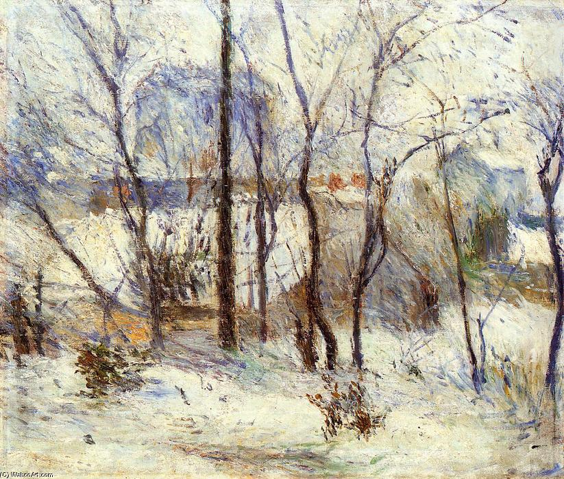 famous painting Nieve en Vaugirard of Paul Gauguin