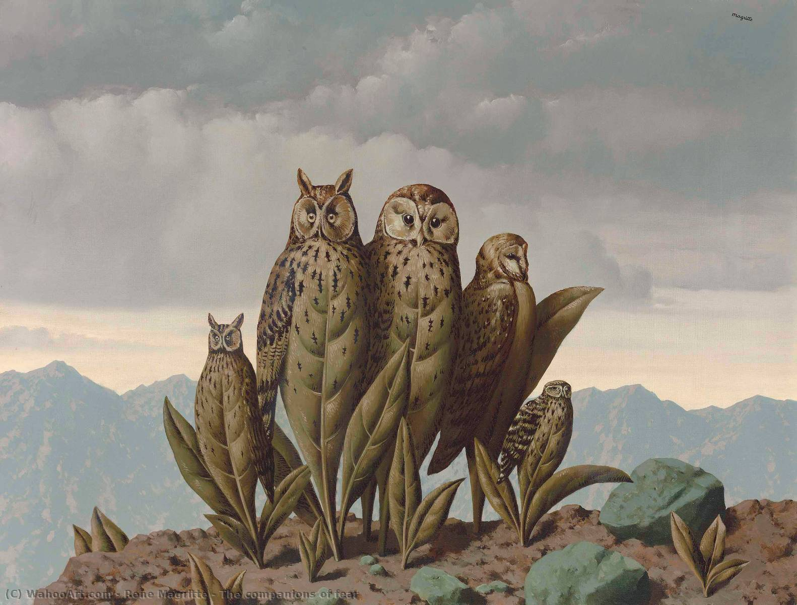 famous painting los compañeros todaclasede  el miedo  of Rene Magritte