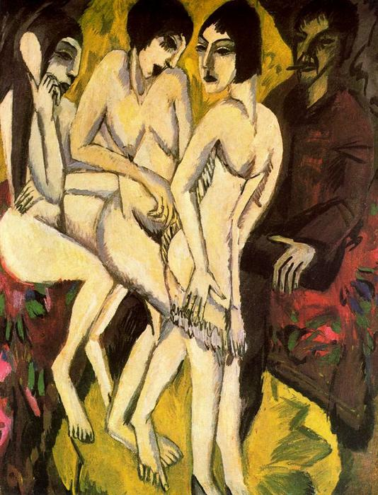 Pedir Reproducciones De Bellas Artes | El Juicio de Paris de Ernst Ludwig Kirchner | Most-Famous-Paintings.com