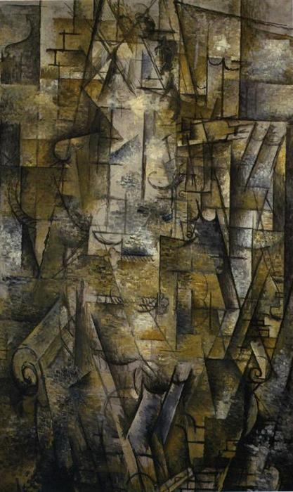 famous painting mujer leyendo of Georges Braque