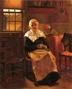 John George Brown - Dear Old abuelita