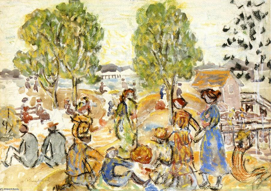 famous painting Picnic 1 of Maurice Brazil Prendergast