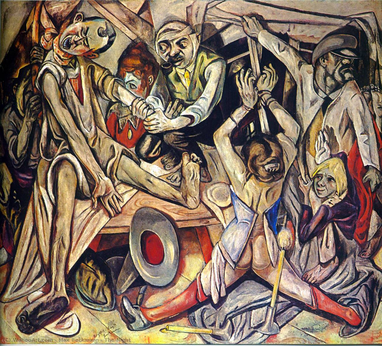 famous painting el noche of Max Beckmann