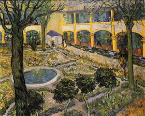 Vincent Van Gogh - Patio del hospital en Arles