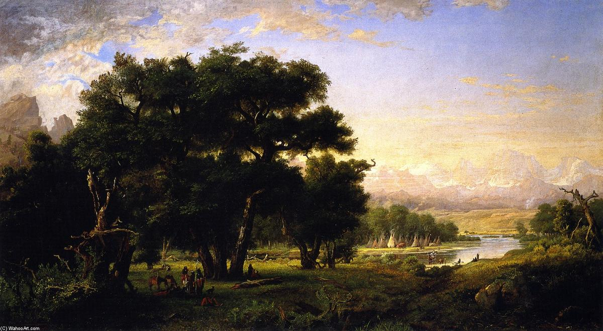 famous painting encampment` a lo largo del serpiente río of Ralph Albert Blakelock