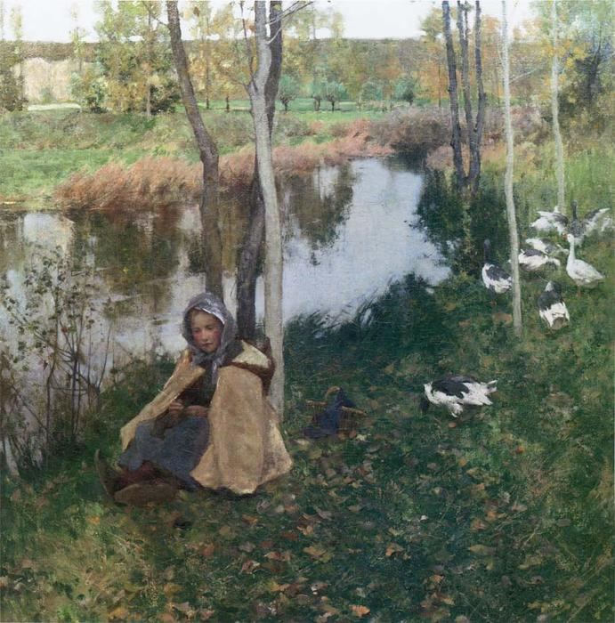famous painting Ganso Chica of Willard Leroy Metcalf