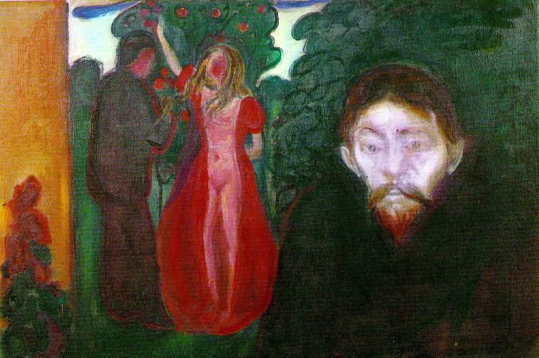 famous painting Celos of Edvard Munch